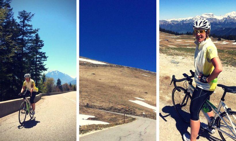 Mijn eerste col bedwongen voor de Alpe d'Huzes