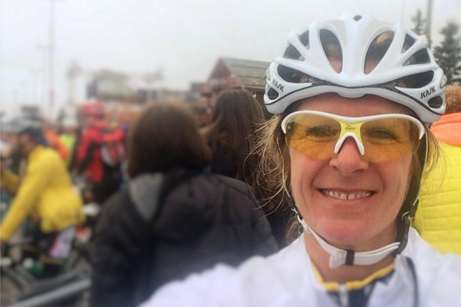 Alpe d'Huzes Ingrid finish