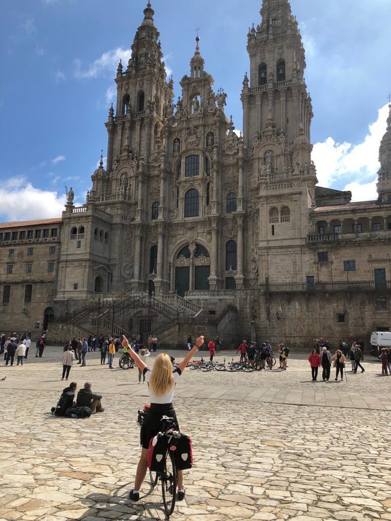 Aankomst Santiago de Compostela Ingrid Prent